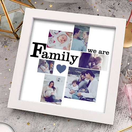 Custom Creative Photo Frame 6 Pictures We are Family Family Gift