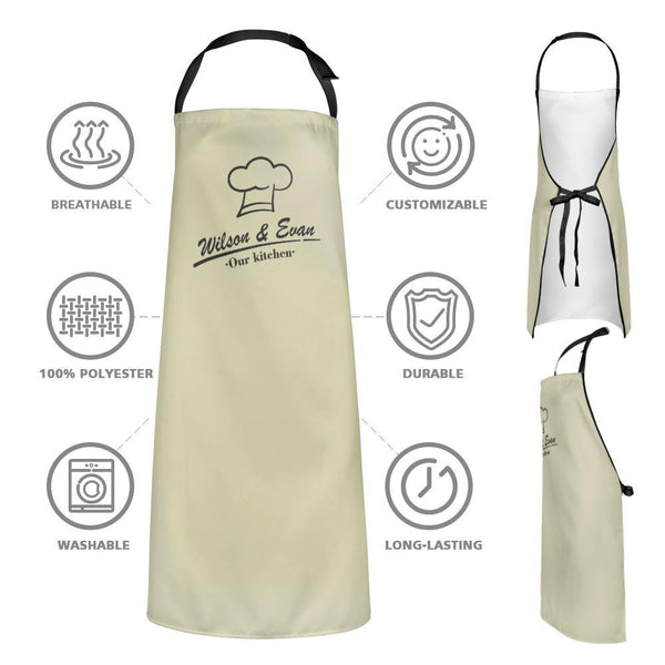 Custom Kitchen Cooking Apron with Names