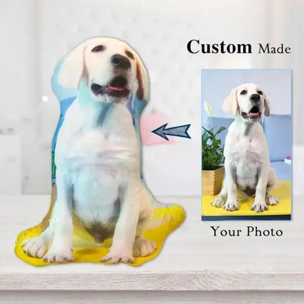 Custom Pet Photo Face Pillow 3D Portrait Pillow-dogsall