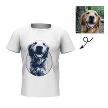 Custom Black and White Photo Engraved White T-shirt