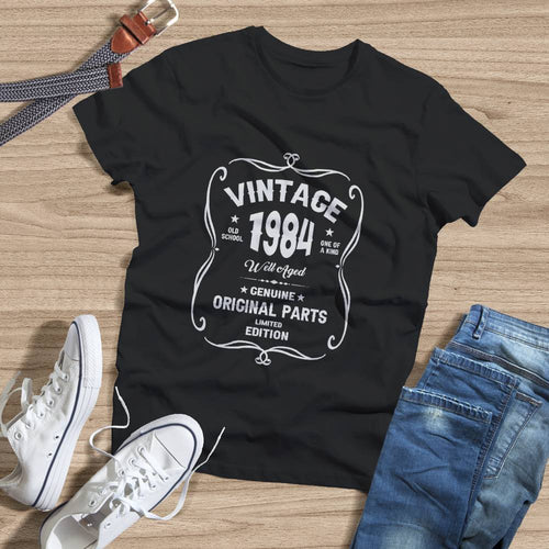 Birthday Shirt 37th Birthday Gift, VINTAGE 1984 Limited Edition, Well Aged Original Parts T-shirt