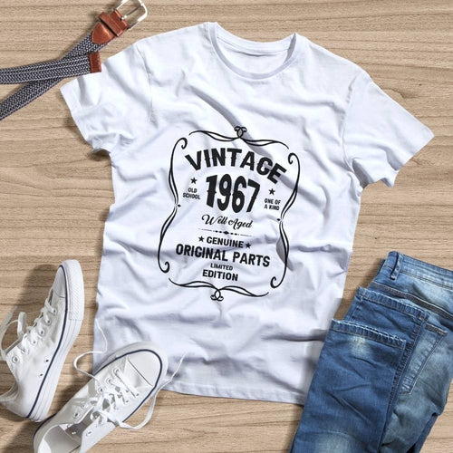 Birthday Shirt 54th Birthday Gift, VINTAGE 1967 Limited Edition, Well Aged Original Parts T-shirt