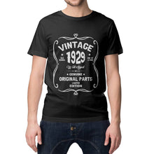 Birthday Shirt 92nd Birthday Gift, VINTAGE 1929 Limited Edition, Well Aged Original Parts T-shirt