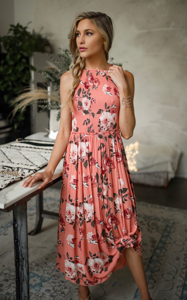BLUSH BLOOM MAXI DRESS