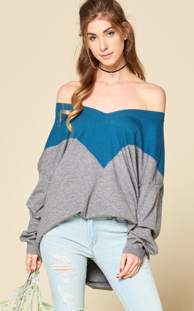 SUNDAY MORNING COLOR BLOCK SWEATER
