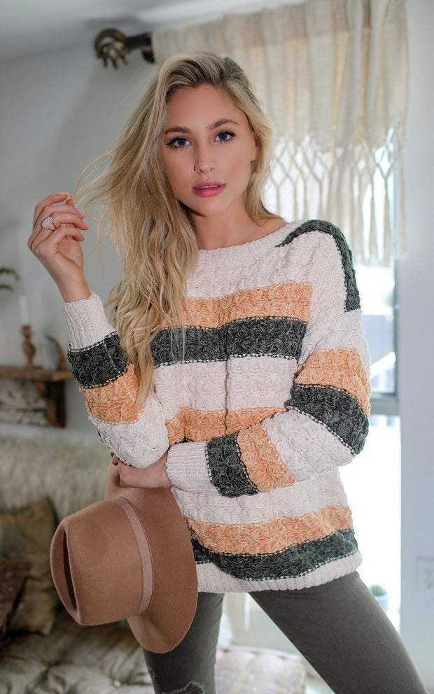 OH SO LOVELY CHENILLE SWEATER