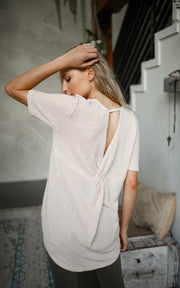 SHOW ME KNOTTED BACK WAFFLE TOP