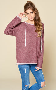FRENCH TERRY HOODED SWEATSHIRT