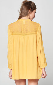 MUSTARD LACE BLOUSE