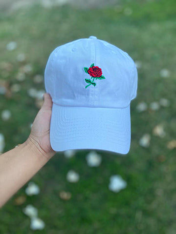 Rose - Dad Hat (White)