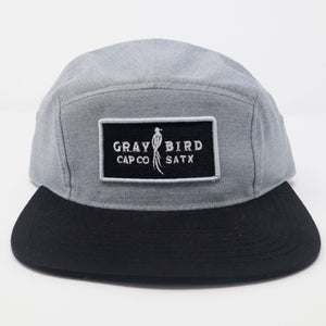 Gray Bird 5 Panel Cap