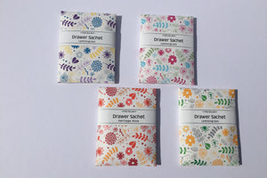Garden Party Drawer Sachets in a almond rose fragrance