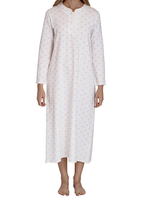 Fleur-de-Lis cotton knit Nightie
