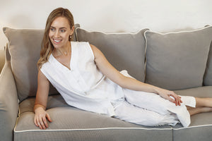 Hayley Cotton Sleeveless Pyjama Set