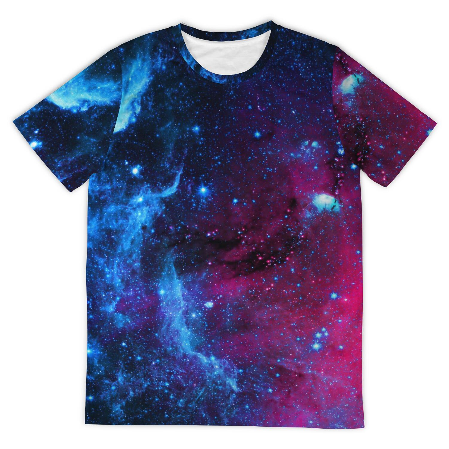 Simplemindset Galaxy All Over Print T-Shirt - Simple Mindset
