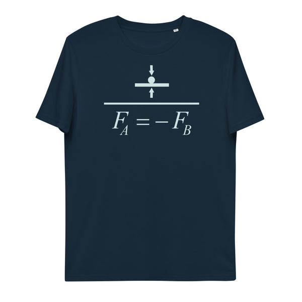 Newton's Third Law Unisex Organic Cotton T-Shirt | Simple Mindset