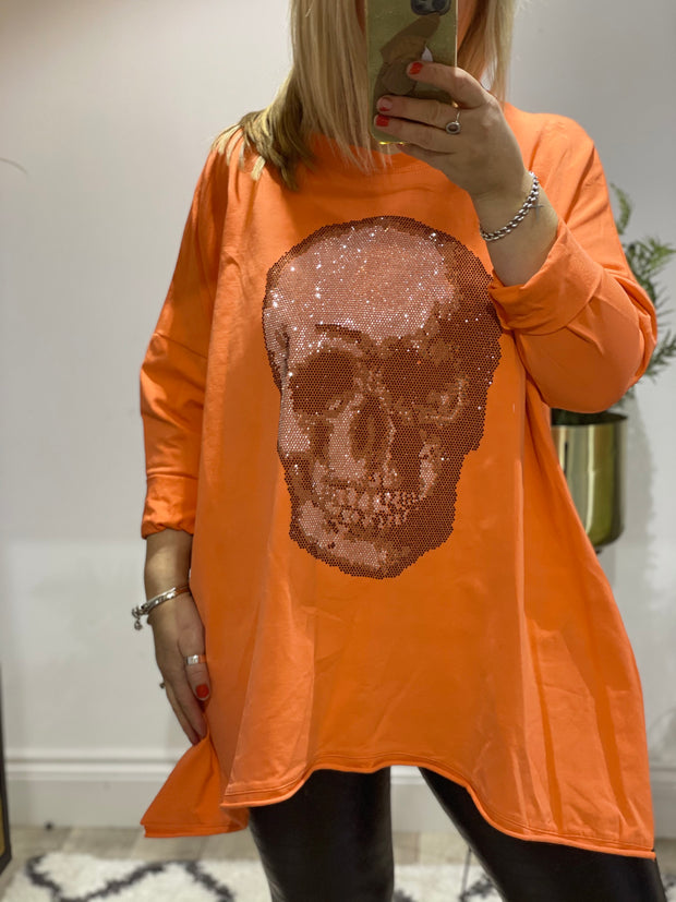 Chelsea Sparkle Split side Skull top