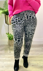Magic Stretch Cargo Pants Animal Print Bottoms
