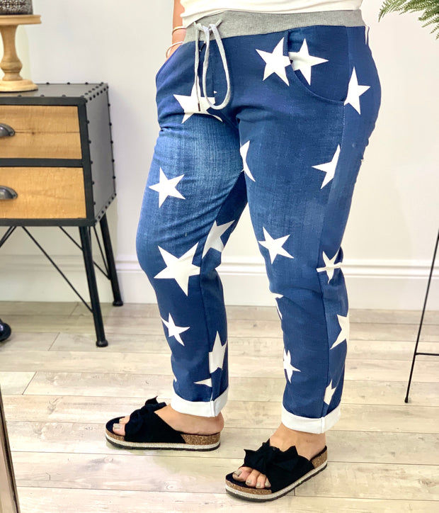 Magic Tracksuit Jogger Denim star Cargo Pants