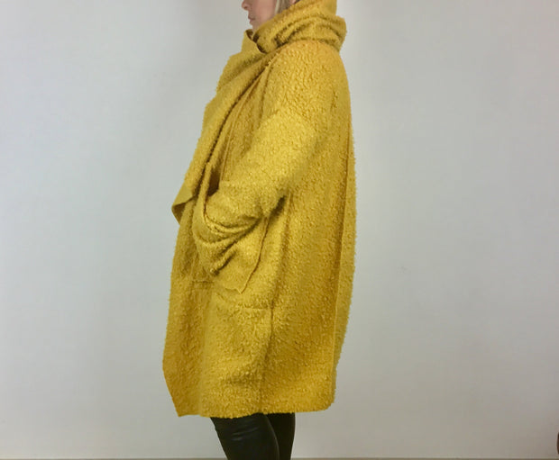 Twist Boucle Coat By Made In Italy With Pockets