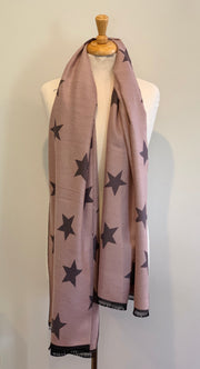 Long Star Scarf Reversible Shawl Wrap Autumn Winter