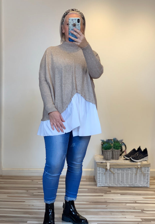 Shirt Tail Super Soft Jumper
