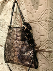 Stella Style Handbag Black With Silver Shimmer