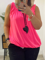 Sleeveless Nova Stretch Bubble Top Vest