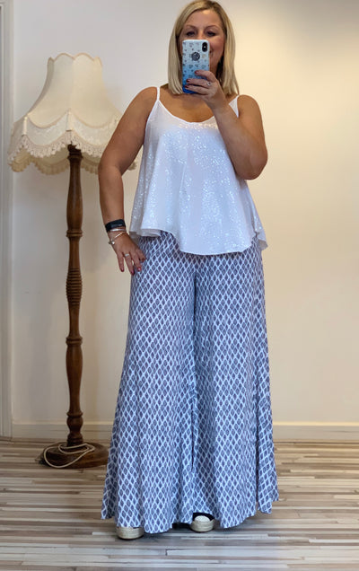 Long Palazzo Wide Leg Boho Summer Casual Pants Trousers