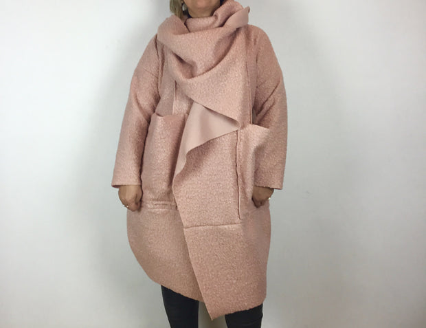 Twist Boucle Coat By Made In Italy