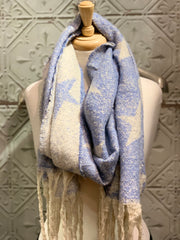 Long Star chunky heavy Scarf Reversible Shawl Wrap Autumn Winter