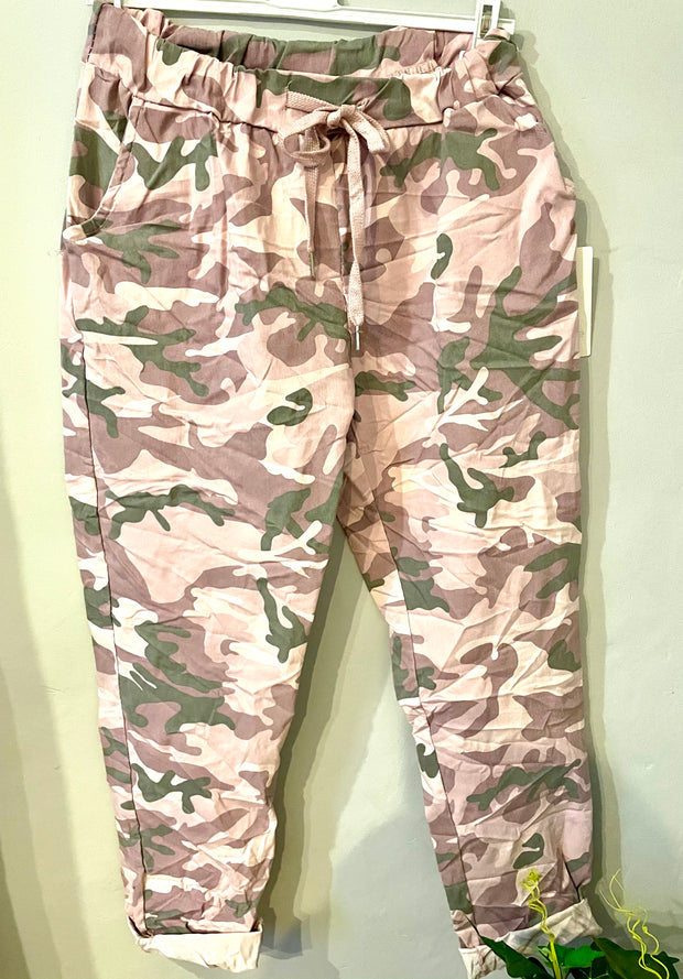 Magic Jogger Camouflage Drawstring Plus Size lounge Bottoms