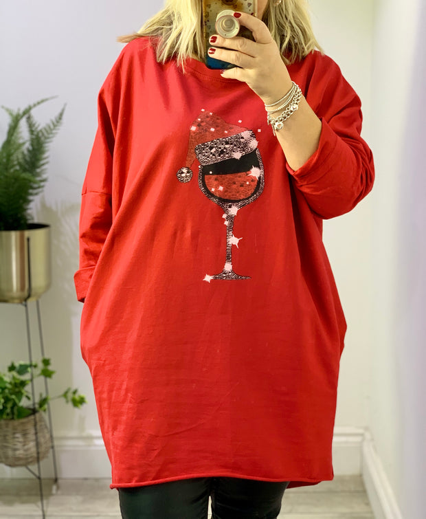 Christall the Christmas Tunic Wine Glass and Hat
