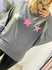 Sequin Triple Star Batwing Super Soft Jumper