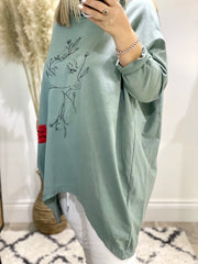 Chelsea S20 Cowell Neck Sweat With Embroidered Lady