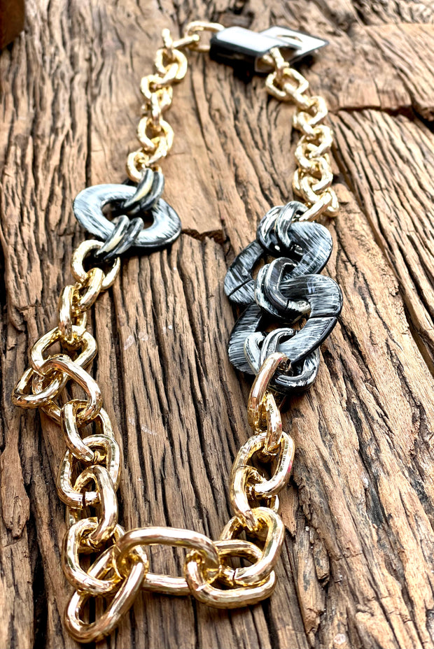 The Crew Large Gold Link Chain Necklace