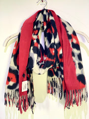Long Large Animal Print Scarf leopard