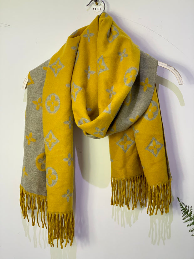 LV Inspired Oversized Thick Heavy Scarf
