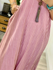 Twin Set T shirt Rosie Bib Pinstriped Dress