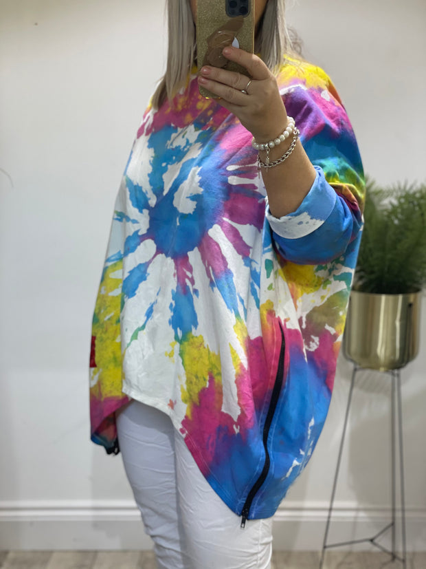 Chelsea Tie Dye Zippy Lounge Top 2