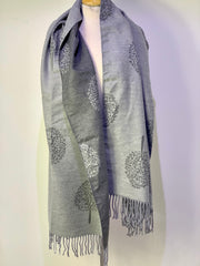 Oversized Heavy Tree of life scarf