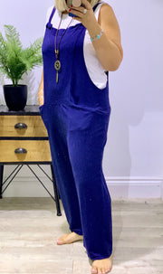 Heavy Dungarees Cropped Length With Pockets