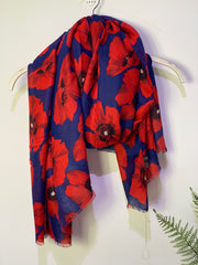 Poppy Oversized Printed Scarf , click here for more colours
