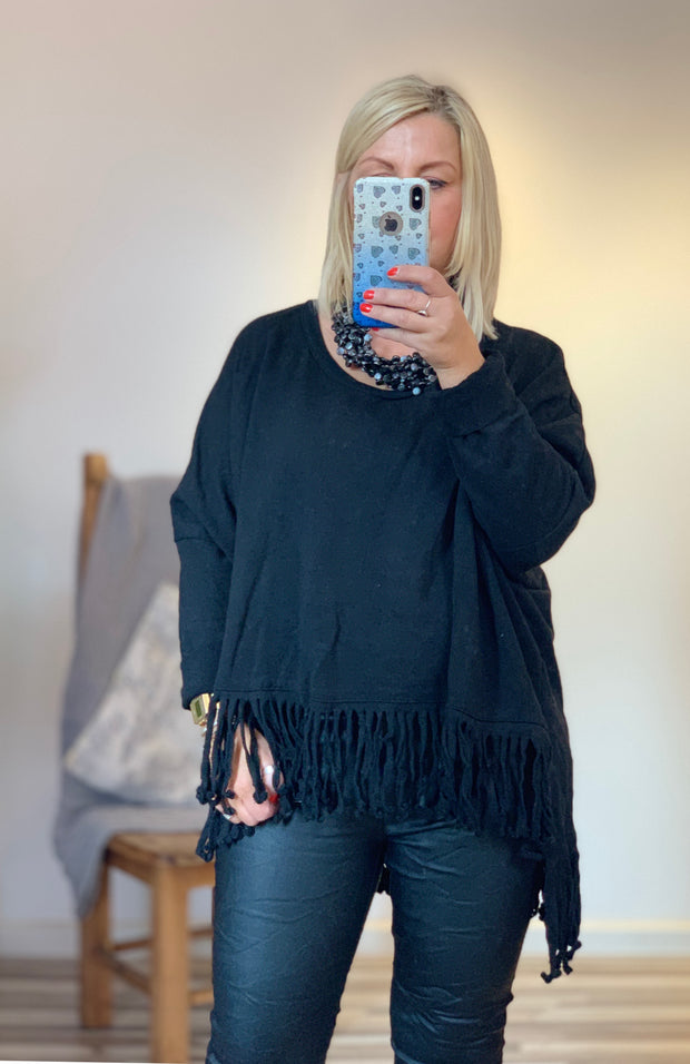 Tassel Oversized Tessa Sweatshirt Relaxed Fit