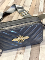 Gucci Inspired Bee Paintent Cross Body Clutch Bag