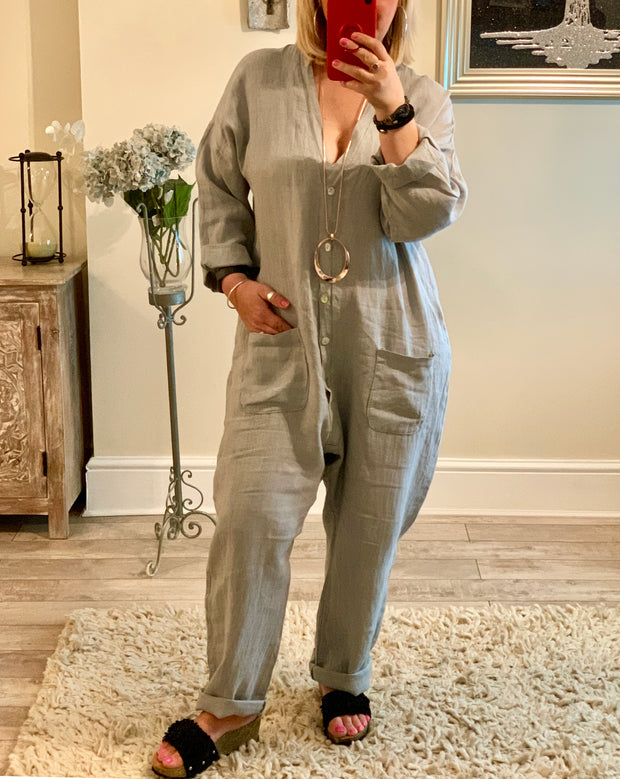 Boiler Suit All In One With Pocket Detail jumpsuit dungarees