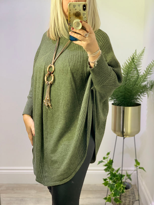 Katie Roll Neck Poncho Style Jumper