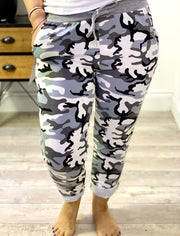 Plus Size Magic Tracksuit Jogger Camo Grey Cargo Pants