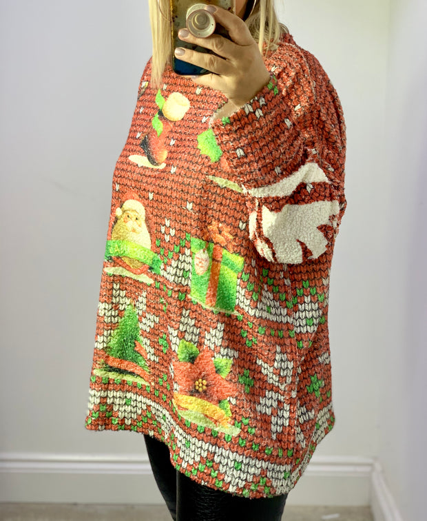 Christmas Boucle Style Oversized Jumper CLICK HERE FOR MORE DESIGNS