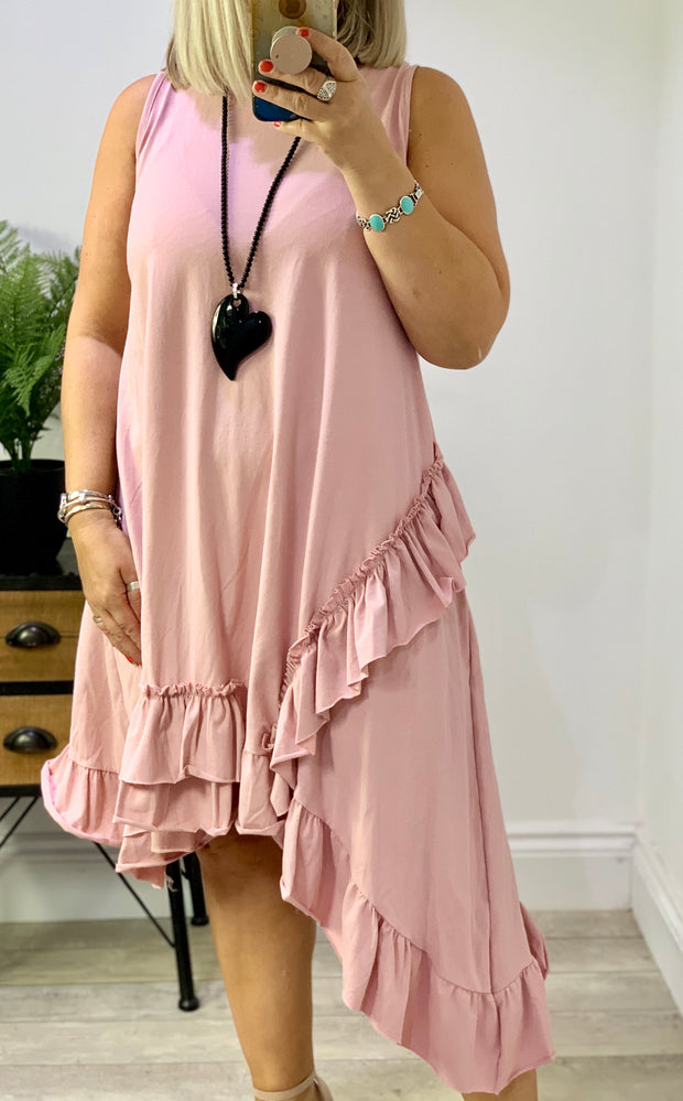 Tricia Style Swing Dress With a Cotton Frill Detail